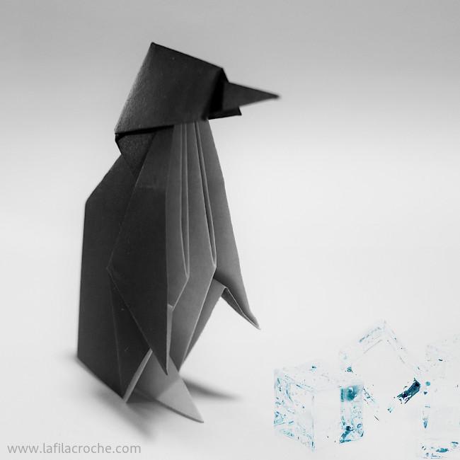 famille pingouin origami la filacroche. Black Bedroom Furniture Sets. Home Design Ideas