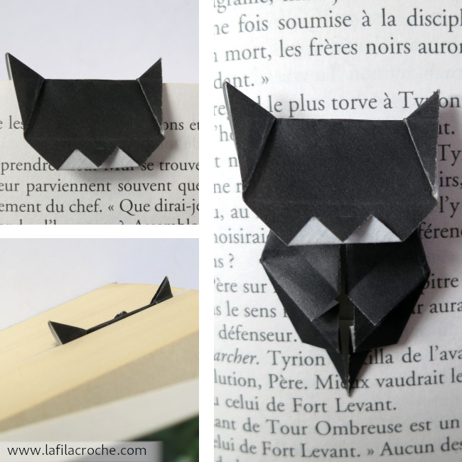 Marque-page chat origami de Jo Nakashima