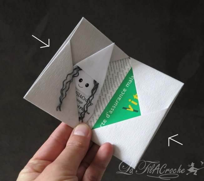 tutoriel de porte cartes en origami la filacroche. Black Bedroom Furniture Sets. Home Design Ideas