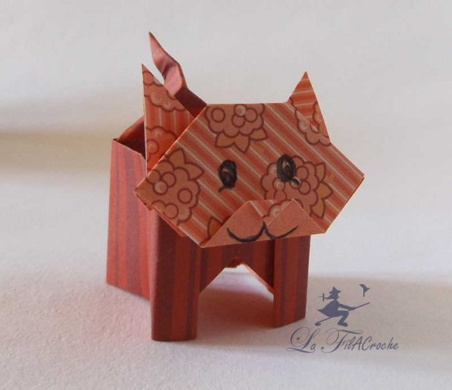 la boite chat en origami la filacroche. Black Bedroom Furniture Sets. Home Design Ideas