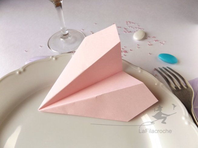 Marque place avion origami