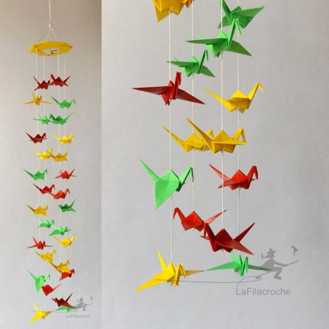 grue origami mobile