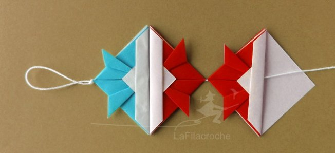 tuto guirlande en origami avec des kabuto la filacroche. Black Bedroom Furniture Sets. Home Design Ideas