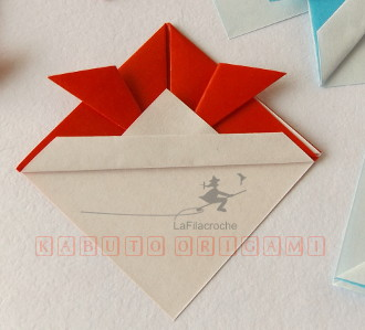 Kabuto origami traditionnel