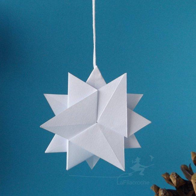 Origami flocon de neige 20170822132633 - Flocon de neige en papier origami ...