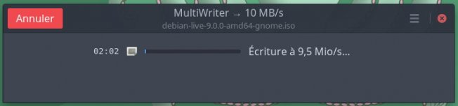Capture écran gnome multiwriter 3