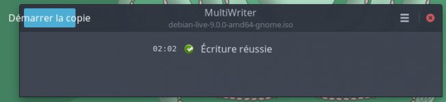 Capture écran gnome multiwriter 5