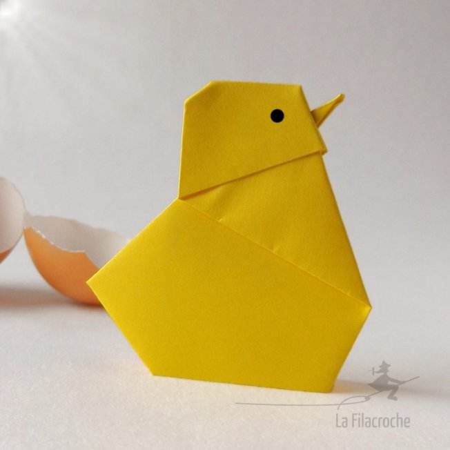 Poussin en origami traditionnel