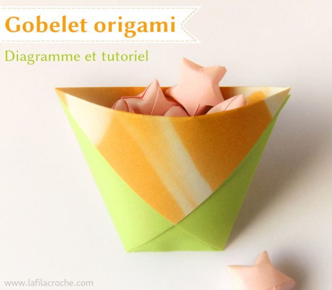 Gobelet en origami traditionnel