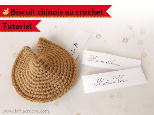 Amigurumi fortune cookie au crochet