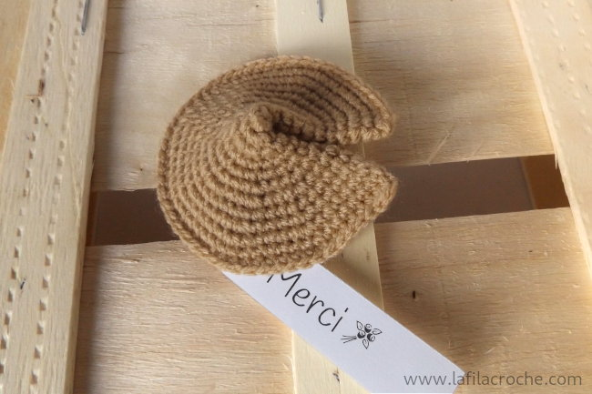 Fortune cookie au crochet