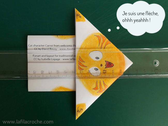 Pliage chat origami étape 7.3