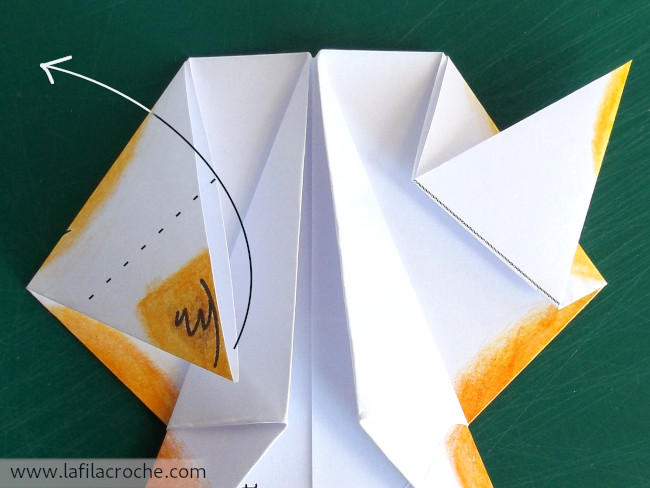 Pliage chat origami étape 112.1
