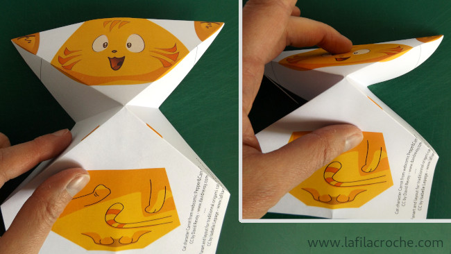 Pliage chat origami étape 5.1
