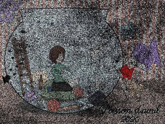 Desen cu stratul de textură brut
